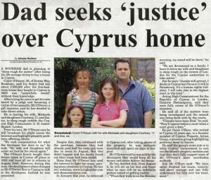 Dad seeks justice over his Cyprus home