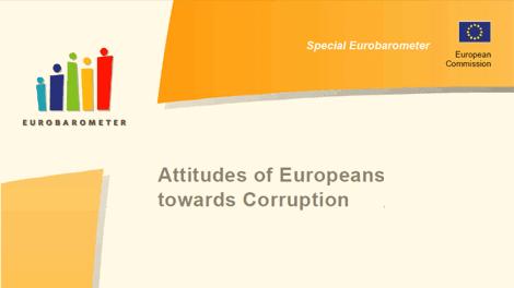 Eurobarometer Special Report: Attitude of Europeans towards corruption