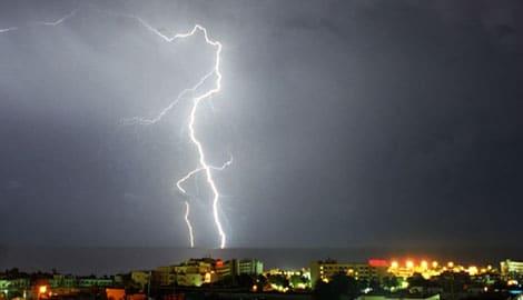 Thunderstorm in Ayia Napa Cyprus