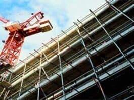 construction production plummets