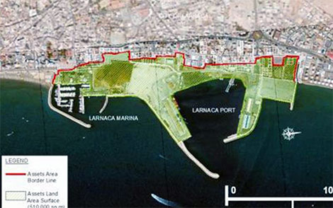 Larnaca marina port