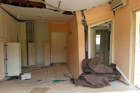 Damage to Pissouri resident's bedroom