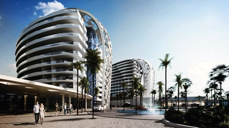 Eden City high-rise mixed use development in Geroskipou