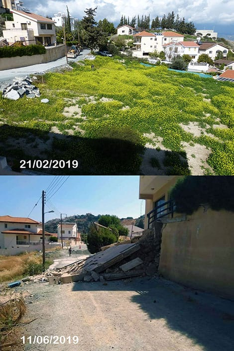 Pissouri Wall Collapse