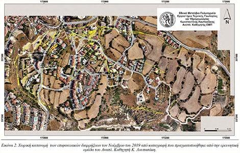 Pissouri landslide map - 2