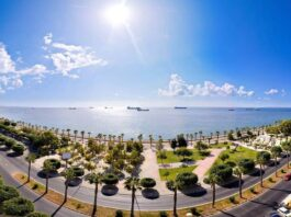 Sea view from high rise building in Limassol